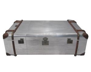 Baú Chines Metalizado Globetrekker - L'oeil - www.loeil.com.br - tel: 3897.8787
