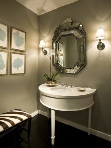 Lavabo Com Espelho Veneziano