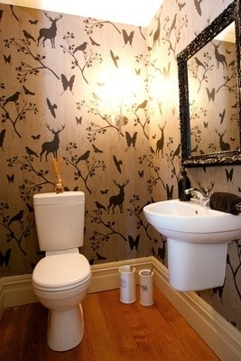 Lavabo Com Papel De Animais Decorarst