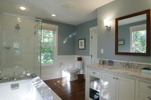 Banho Azul e Branco