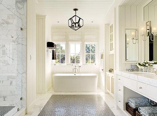 Banho Branco Cinza e Preto - Elle Decor