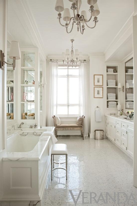 Banho Branco Romantico