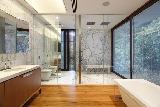 Banho Marmore, Madeira e Branco