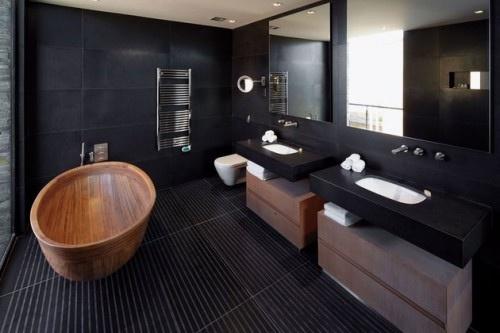 Banho Preto com Madeira