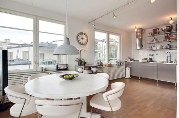 Sala de Jantar Cozinha Apartamento em Estocolmo