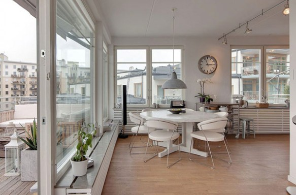 Sala de Jantar de Cobertura em Estocolmo