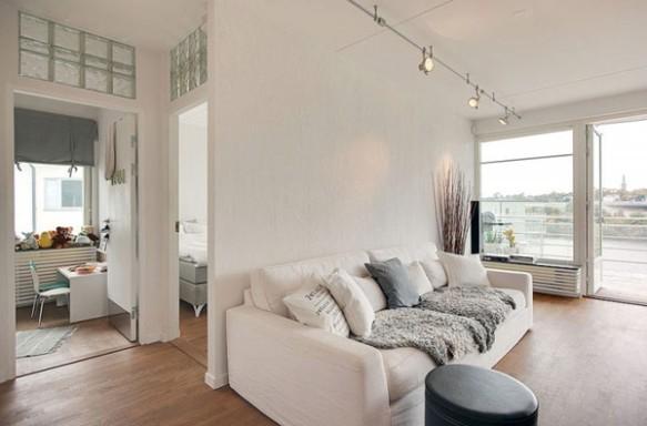 Vista Interna Cobertura Apartamento em Estocolmo