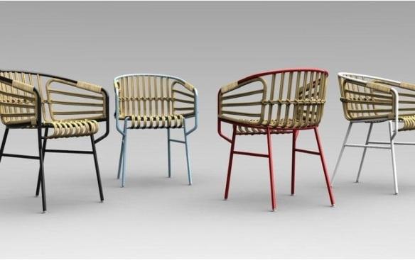 cadeira Raphia criada por Lucidi Pevere para Casamania
