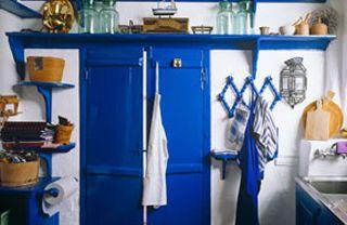 Cozinha Rustica Azul Royal