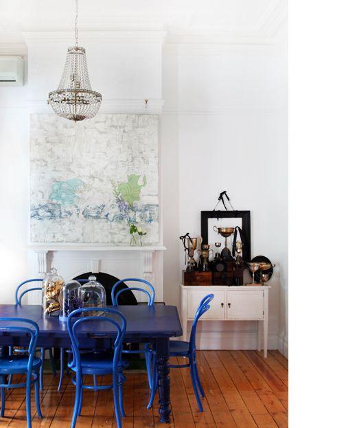 Sala de Jantar Azul Royal