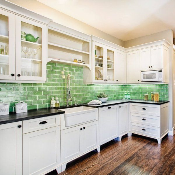 Cozinha verde 3 decorarst for Backsplash ideas for kitchen pinterest