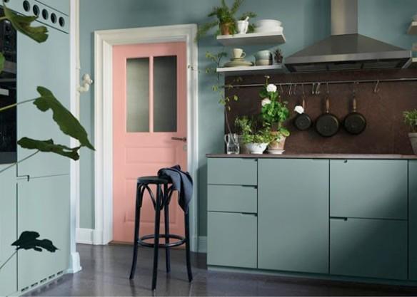 Porta Cozinha Rosa Quartzo