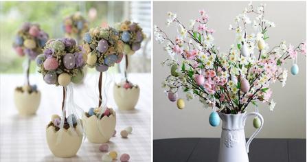 decoração-páscoa-árvores-com-ovos