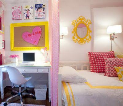 Quarto Branco, Amarelo e Pink